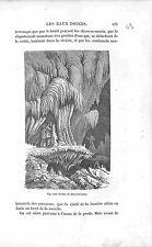 Cave Grotte de Han-sur-Lesse Famenne Belgique Belgium GRAVURE ANTIQUE PRINT 1874