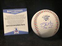 Shane Bieber Autograph Cleveland Indians Signed 2019 All-Star Baseball BAS K1