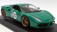 Burago 1/18 Scale Diecast - 18-76101 Ferrari 488 GTB 70th Anniversary Green