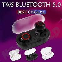 Bluetooth 5.0 300 mh Auriculares Inalambricos Caja De Carga Cascos Auricular