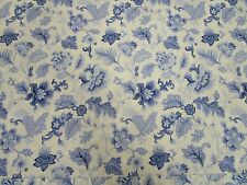 Blue/white floral twin flat sheet - Coming Home brand