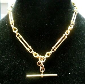 9ct Rose Gold Fancy Link Fob Chain