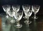 Cristal LEMBERG de Lorraine 7 verres à Porto en CRISTAL Taillé - vers 1930