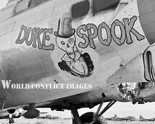 USAAF WW2 B-17 Bomber Duke Spook 8x10 Nose Art Photo 34th BG Mendlesham WWII