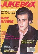 Jukebox N° 28 Dick RIVERS John LENNON et Paul Mc CARTNEY Fats DOMINO Les KINKS
