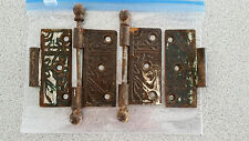 Antique Victorian Cast Iron Door Hinges from 100yr old home