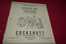 Cockshutt 1032 Cultivator For 30 Tractor Parts Book Manual PBPA