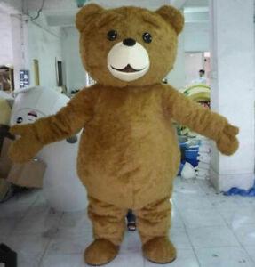 New Teddy Bear of TED Adult Size Halloween Cartoon Mascot Costume Fancy Dress
