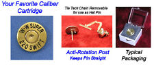 Winchester W-W SUPER 220 SWIFT Cartridge Hat or Jacket  Pin  Tie Tac Bullet