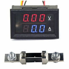 DC 0-200V 200A Digital LED Voltmeter Ammete Voltage Current Panel Meter +Shunt