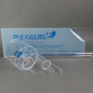 PLEXIGLAS ® ROHR (2,60-74,10€/m) ACRYLGLASROHR KUNSTSTOFFROHR 500mm LANG KLAR