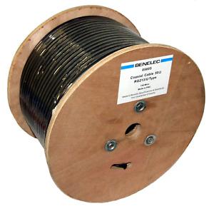 RG213 Benelec Quality Coaxial 50 Ohm 10mm Single Copper Braided Shield - 05605