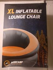 Basecamp XL inflatable Lounge Chair Black Orange Camping Beach Pool New in Box