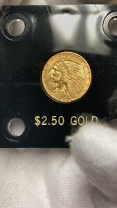 1925-D Indian Head Quarter Eagle Gold coin AU/BU $2.50 2 1/2 2.5 2.50