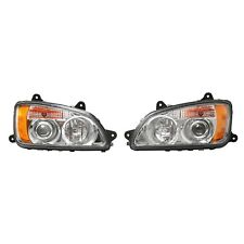 Pair Left Right Headlight Projector Halo Fit Kenworth T660 T700 2008-2016