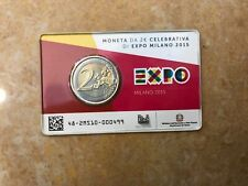 ITALIA ITALY 2 euro 2015 COIN CARD EXPO MILANO  FDC