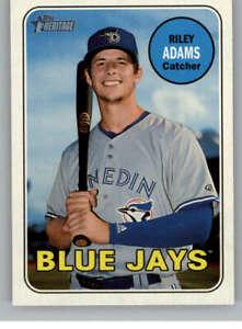 2018 Topps Heritage Minor League #113 Riley Adams  Dunedin Blue Jays Baseball