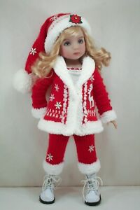 Christmas Outfit for Effner Little Darlings Doll 13