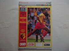More details for watford v millwall programme 18/10/97 - very good condition