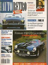 AUTO RETRO 157 MGB MGC 1962 1980 FERRARI 250 GT CALIFORNIA LANCIA B20 CORVAIR