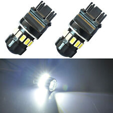 JDM ASTAR 3157 3156 White LED Turn Signal Tail Brake Backup Parking Lights Bulbs