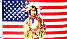 USA INDIAN FLAG 5' x 3' America Country Western Line Barn Dance