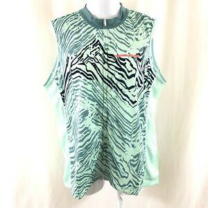 Pearl Izumi Womens Select Escape Jersey Full Zip Sleeveless Striped Green XXL