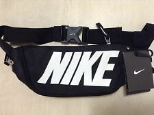 NIKE BUM BAG FANNY WAIST PACK BLACK TRAVEL BUMBAG MONEY BELT CASH GYM WORKOUT