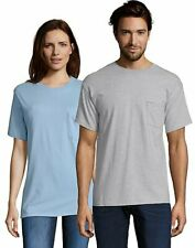Hanes Mens T Shirt with Pocket Tagless Comfort Soft Tees Tops Blank Plain Adult