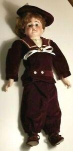 "Antique German  Armand Marseille Doll G DEP 3200 20"" With Teeth & Dressed   A"