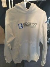SPARCO www.sparco White Hoodie Sweat Shirt, Extra Extra Large