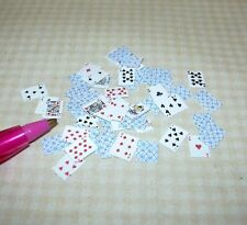 Miniature 52 Pick-Up!  Full Deck of Playing Cards BLUE for DOLLHOUSE 1/12 Scale