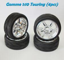 Gomme Tire 1:10 1/10 Touring DRIFT con cerchio Cromato (4pcs.)