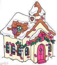 "9"" PRECIOUS MOMENTS CHRISTMAS HOUSE CHARACTER WALL SAFE FABRIC DECAL CUT OUT"