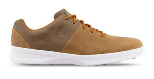 FootJoy Contour Casual Golf Shoes Spikeless Men's 54057 Brown New