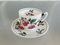 ANTIQUE PARAGON DEMITASSE TEACUP AND SAUCER ROSES
