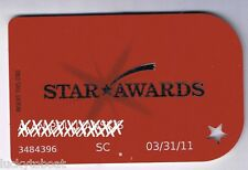 Ameristar Riverboat Star Awards Slot Machine Card Signed Council Bluffs Iowa