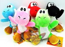 """Lot 5 Super Mario YOSHI 4.5"""" Plush Toy-MW123"""