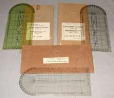 3  WW11 Military Bearing & Distance Plotters In Box