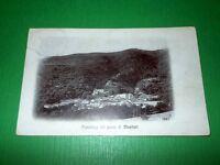 Cartolina Montieri ( Grosseto ) - Panorama 1910 ca