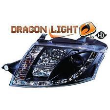 Coppia fari anteriori Tuning AUDI TT 98-05 NERI Dayline Dragon LED H7/H1 R.ELETT