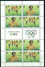 BRITISH VIRGIN ISLANDS 471-72 SG531a MNH 1984 Olympics sheet of 4 pairs Cat$5