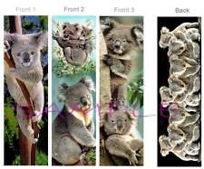 KOALAS BOOKMARKS-Set 3 BEAUTIFUL Australia Wildlife ART Book Mark Card Figurine
