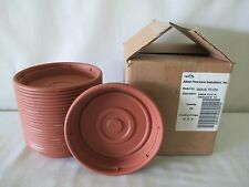 "*24* NEW HEAVY DUTY FLOWER POT SAUCERS BASES PLATES FITS 6"" PLANTER TERRA COTTA"