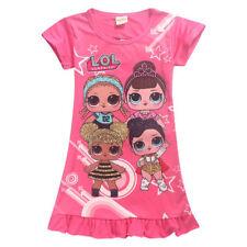 Kids Girls LoL Surprise Dolls Game Dresses Nightwear Nightdress Pyjamas Skirt UK