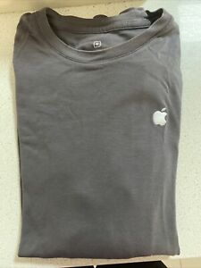 Apple Company Long Sleeve Shirt - Grey - Small (Official Embroided Logo)