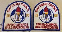 "Vintage ""Gulf Coast Council 1965 Explor Olympics NAS Corpus"" Patches"
