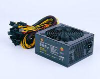 1800W 2000W BTC ETH Mining Rig Modular Power Supply For 6/8 Gpu Crypto Coin