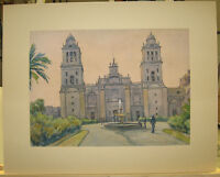 Herbert R. Cross (b. 1877) Mexico Cathedral WC Listed Providence RI Artist