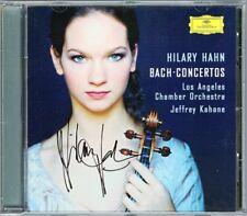 Hilary HAHN Signiert BACH 4 Violin Concerto JEFFREY KAHANE CD Violinkonzerte DG